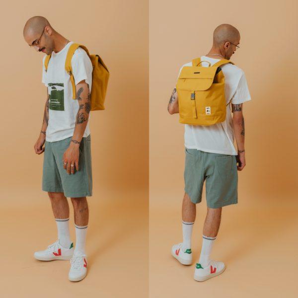 mochila-lefrik-scout-mustard-modelo