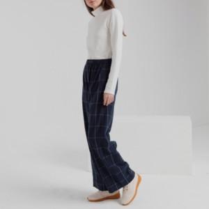pantalón-largo-mujer-mamita-blue-checks