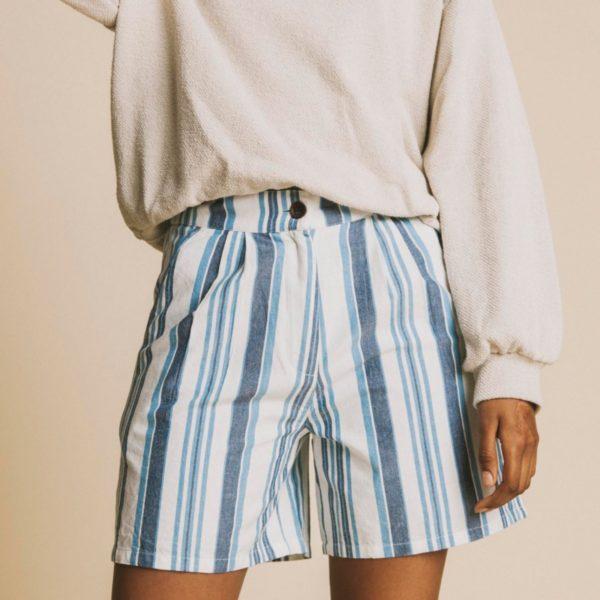 pantalon-corto-mujer-short-blue-stripes-mamma-cuatro